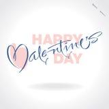 Iscrizione della mano dei biglietti di S. Valentino () Immagine Stock