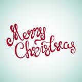 Iscrizione della mano di Buon Natale Fotografie Stock Libere da Diritti