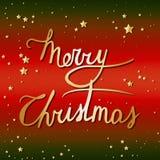 Iscrizione della mano di Buon Natale Immagine Stock Libera da Diritti