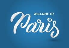 Iscrizione della mano di Parigi Fotografia Stock