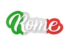 Iscrizione della mano di Roma Fotografia Stock