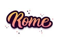 Iscrizione della mano di Roma Immagini Stock Libere da Diritti