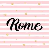 Iscrizione della mano di Roma Fotografie Stock Libere da Diritti
