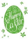 Iscrizione della Pasqua con lettere felice Uovo Illustrazione di vettore Fotografia Stock Libera da Diritti