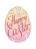 Iscrizione della Pasqua con lettere felice Uovo Illustrazione di vettore Fotografie Stock