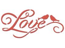 Iscrizione dello stampino di amore immagini stock