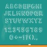Iscrizione di alfabeto del disegno sulla lavagna del gesso Vettore Fotografie Stock Libere da Diritti