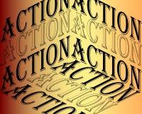Iscrizione di azione Citazione ispiratrice, motivazione Tipografia per la maglietta, invito, stampa della maglietta felpata della illustrazione vettoriale