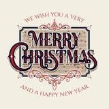 Iscrizione di Buon Natale Immagine Stock