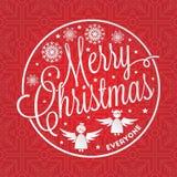 Iscrizione di Buon Natale Fotografia Stock Libera da Diritti