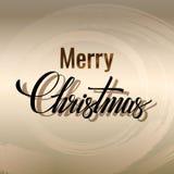 Iscrizione di Buon Natale Cartolina d'auguri scritta a mano tipografia Illustrazione di vettore Fotografia Stock