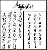 iscrizione di calligrafia di alfabeto Immagine Stock