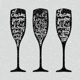 Iscrizione di Champagne New Years Immagine Stock Libera da Diritti