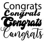 Iscrizione di Congrats La calligrafia moderna scritta a mano, spazzola ha dipinto le lettere Testo ispiratore, illustrazione di v illustrazione di stock