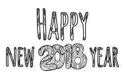 Iscrizione di congratulazioni Nuovo anno felice Immagine Stock Libera da Diritti