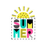Iscrizione di estate di vettore Fotografia Stock