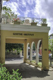 Iscrizione di Goethe-Institut su un'entrata della costruzione a Sydney Fotografia Stock Libera da Diritti