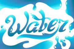 Iscrizione di logo di giorno dell'acqua del turchese Immagine Stock Libera da Diritti