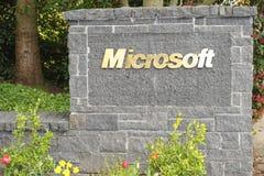 Iscrizione di Microsoft Immagine Stock