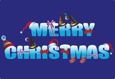 Iscrizione di Natale Saluti di progettazione per l'insegna Fotografia Stock Libera da Diritti