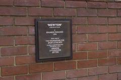 Iscrizione di Newton Immagine Stock