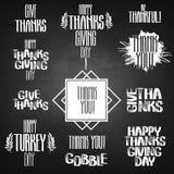 Iscrizione di ringraziamento di vettore Immagine Stock