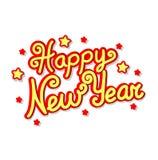 Iscrizione di saluto dell'buon anno Illustrazione di Stock