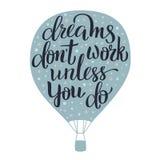 Iscrizione di sogni Immagini Stock