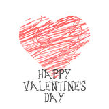 Iscrizione di Valentine Day Illustrazione di vettore Illustrazione di Stock