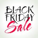 Iscrizione di vendita di Black Friday Illustrazione di vettore Fotografie Stock