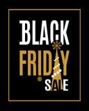 Iscrizione di vendita di Black Friday di vettore Illustrazione di Stock