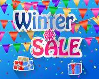 Iscrizione di vendita di inverno Fotografie Stock