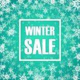 Iscrizione di vendita di inverno su fondo Fotografia Stock