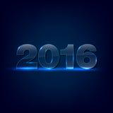 Iscrizione di vetro brillante 2016 Fotografia Stock