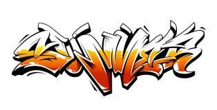 Iscrizione di vettore dei graffiti di estate illustrazione di stock