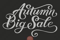 Iscrizione disegnata a mano - Autumn Big Sale Calligrafia scritta a mano moderna elegante Illustrazione dell'inchiostro di vettor Fotografia Stock Libera da Diritti