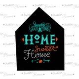 Iscrizione disegnata a mano Casa dolce domestica illustrazione vettoriale