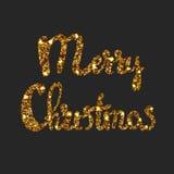 Iscrizione disegnata a mano di Buon Natale Immagini Stock