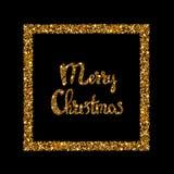 Iscrizione disegnata a mano di Buon Natale Fotografia Stock