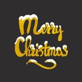 Iscrizione disegnata a mano di Buon Natale Immagine Stock