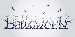 Iscrizione disegnata a mano di Halloween Illustrazione di Stock