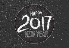 Iscrizione disegnata a mano di lerciume sul fondo scuro Nuovo anno Immagini Stock Libere da Diritti