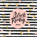 Iscrizione disegnata a mano di vendita di Black Friday Immagine Stock