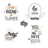 Iscrizione disegnata a mano di vettore circa l'amore royalty illustrazione gratis