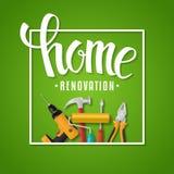 Iscrizione domestica di rinnovamento Fotografia Stock