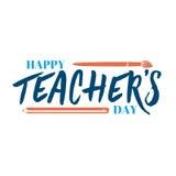 Iscrizione e calligrafia moderne - giorno felice degli insegnanti a voi Autoadesivo, bollo, logo - fatto a mano illustrazione vettoriale