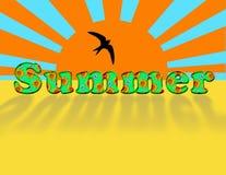 Iscrizione - estate. Immagine Stock