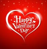 Iscrizione felice del giorno del biglietto di S. Valentino Fotografie Stock