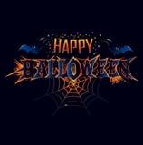 Iscrizione felice di saluto di Halloween Fotografie Stock Libere da Diritti