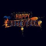 Iscrizione felice di saluto di Halloween Immagine Stock Libera da Diritti